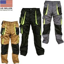 Mens Work Trousers Kneepad & Holster Pockets Cordura Cargo Combat Working Pants