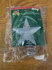 Silver Mini Glitter Tree Topper