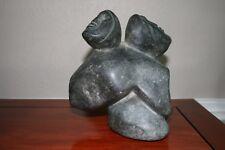Luke Hallauk - Inuit Sculpture - Woman and Child - 1981 - Nunavut