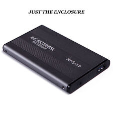 External Backup Hard Drive 500GB USB 3/2.0 Case Enclosure 2.5 Portable HDD
