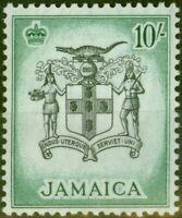 Jamaica 1956 10s Black & Blue-Green SG173 V.F MNH