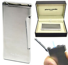 Pierre Cardin Jet Flint Cigar Lighter - Chrome Finish with Free Engraving 276-02