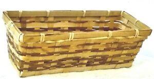 Natural Woven Rectangular Tableware Storage Basket Container. (3 / 6 Basket Set)