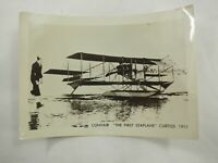 "Convair ""The First Seaplane"" Curtiss B&W photo from a large collection 5"" x 3.75"