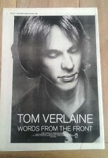 TOM VERLAINE (Television) Words...1982 UK Poster size Press ADVERT 16x12 inches