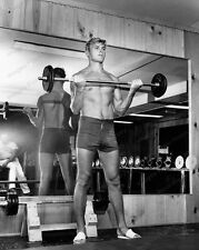 8x10 Print Tab Hunter Shirtless Gym 1953 #TH922
