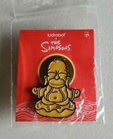 "SDCC 2020 Kidrobot Exclusive The Simpsons Golden Homer Buddha Pin 1.5"" In Hand"