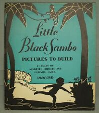 rare vintage old Children's book Little Black Sambo Pictures to Build 1932