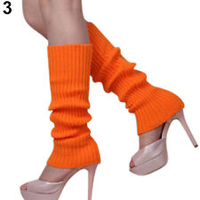Ladies Girls Teen 80's Dance Plain Ribbed Leg Warmers Legwarmers 15 Colours UK