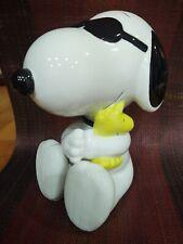 Westland Peanuts Charlie Brown Snoopy Holding Woodstock Bank #8352