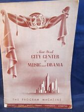 New York City Center of Music and Drama Program February 1946 Ballet Russe
