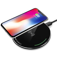 Qi Wireless Fast Charger Dock Charging Pad Mat For Apple iPhone X /10/8/8 Plus+