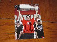 CHRIS CHELIOS AUTOGRAPHED DETROIT RED WINGS STANLEY CUP 4X6 PHOTO # 2