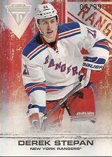 Derek Stepan - 2011-12 Panini Titanium Hockey - Spectrum Ruby  #'D 07 of 99