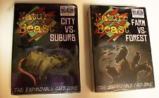 Nature of the Beast Farm vs Forest + City vs Suburb Strategy Card Games ~ NEW!