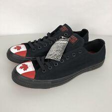 Converse Chuck Taylor Toe Cap Low Top Canada Flag Black 153999C Men 11 Women 13