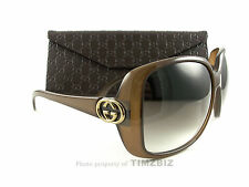 New Gucci Sunglasses GG 3166/S Brown HSDJS Authentic Made in Italy