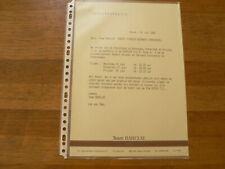 PM187 TEAM BARCLAY STREUER EN SCHNIEDERS PRESSE INFO 1 PAGE ASSEN 1985