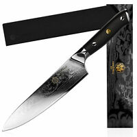 Kessaku Chef Knife Dynasty 67-Layer Japanese Damascus Stainless Steel, 8-Inch