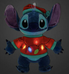 Disney Stitch Light Up Holiday Plush 15 Inches New 2020 Lilo And Stitch