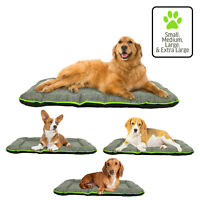 Dog Pet Mat Crate Pad Durable Waterproof Bed Small, Medium, Large, XL, Grey