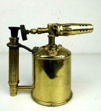 vtg Brass Swedish MAX SIEVERT Benzoline Oil BLOW TORCH/LAMP c1930's