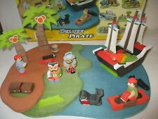 Woodland Fantasies Deluxe Pirate Wooden Toy Lot In Box