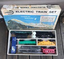 Vintage Post War Lionel Electric Train Metal Steam Locomotive Toy Train Set