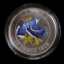 2010 25 Cent Coloured Coin: Blue Jay