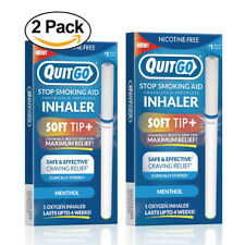 QuitGo Menthol Flavored Smoking Cessation Inhaler with Soft Tip 2 Pack