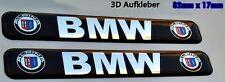 2x BMW Alpina  3D Logo Aufkleber-Abzeichen Set M Series
