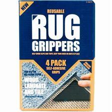 4 x Rug Grippers Mat Non-Slip Reusable Carpet Washable DIY Ruggies Self Adhesive