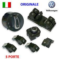 7 Pulsanti VW GOLF 5 6 V VI ORIGINALI pulsantiera devioluci interruttori