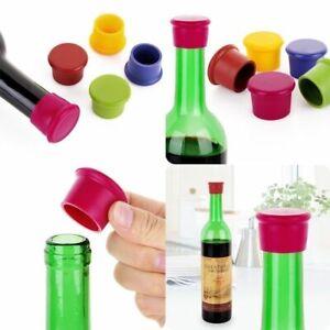 10 Pack Silicone Corks Cover Reusable Wine Beer Bottle Cap Stopper Home Sealer