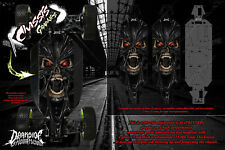 LOSI 5IVE-B CHASSIS WRAP DECAL KIT 'DEMONS WITHIN' HOP UP SKID PLATE PROTECTION