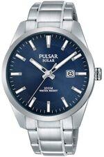 Pulsar Men's Blue Dial Silver Strap Solar Watch PX3181X1 RRP £100