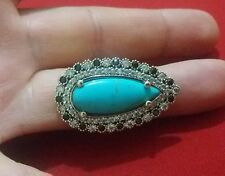 Turkish 925 Sterling Silver Ring with Bronz and Ston Adjustable Wt.13.2 gr #m011