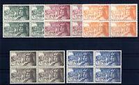 Bloque de Cuatro sellos de España 1952 1111-1115 Fernando el Catolico nuevos