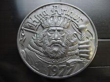 king arthur loyola university 1983 mardi gras doubloon brushed aluminum 10 ga