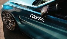 """Cooper S Decal Sticker Euro Racing mod countryman mini JCW all4 Paceman 12"""" Pair"""