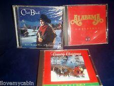 Lot of Country Christmas Cds Music Clint Black Alabama Alan Jackson Vince Gill