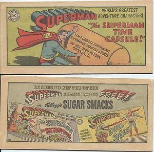SUPERMAN KELLOGGS SUGAR SMACKS MINI COMIC PROMO GIVEAWAY TIME CAPSULE RARE F+