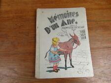 ENFANTINA / MEMOIRES D UN ANE comtesse SEGUR / RENE TOURET 1937