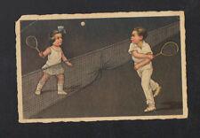 MATCH de TENNIS / ENFANTS illustré ART DECO