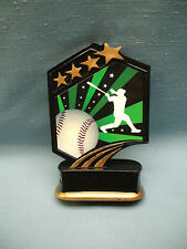 Baseball statue trophy resin green stars Gsr01