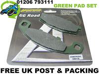 NEW ARMSTRONG GREEN BRAKE PADS PAD SET REAR KAWASAKI ZZR600 ZZR ZX600D 90-93