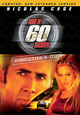 Gone in 60 Seconds (DVD, 2005, Directors Cut Unrated) Free Shipping!