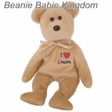 "TY Beanie Baby * LONDON * I LOVE LONDON Teddy 8 ""UK Harrods excl"