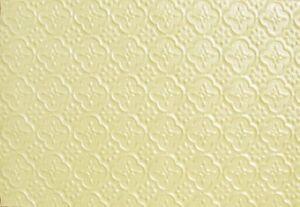 WC20 - Faux Tin PVC Kitchen Backsplash Roll Cream Pearl (Glue Up) - DIY