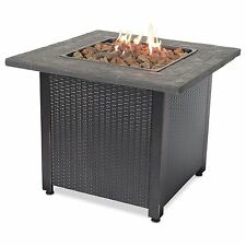 Endless Summer Decorative Push Button Outdoor LP Gas Fire Pit + Rocks | GAD1401M